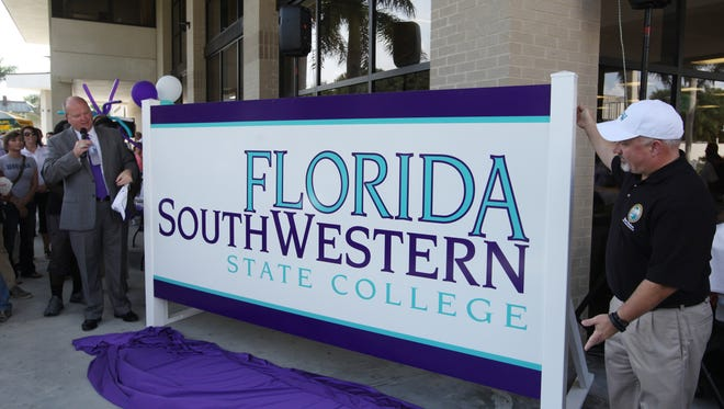 Edison State College makes it's name change to Florida Southwestern State College official during a spirit day celebration.