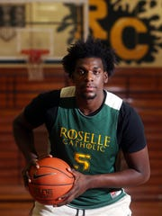 Asbury Park native Nazreon Reid, a junior 6-10 forward for Roselle Catholic High School is the No. 1 basketball recruit in the state as well as one of the top in the country. Dec. 6, 2016, Roselle, NJ.