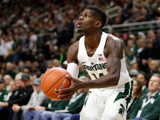 Former Lawrence North standout Eron Harris is averaging 13 points a game for the Spartans.
