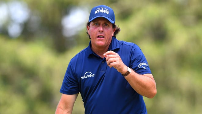 Phil Mickelson called a two-stroke penalty on himself during the final round at The Greenbrier.