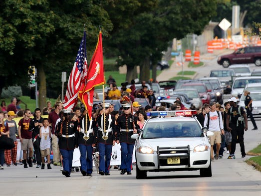 The West Allis Central High School Homecoming parade