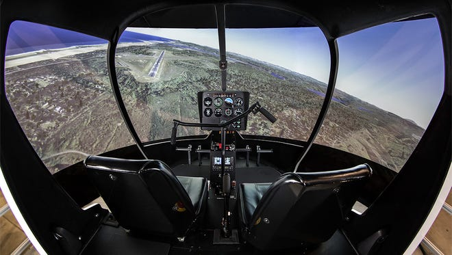 A photo of a flight simulation provided by Southern Utah University.