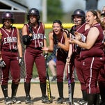 Lebanon players celebrate a home run in May of last year.