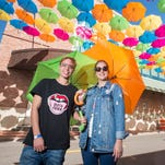 Under the rainbow: Umbrella Sky Project brings vibrant color to Pensacola downtown