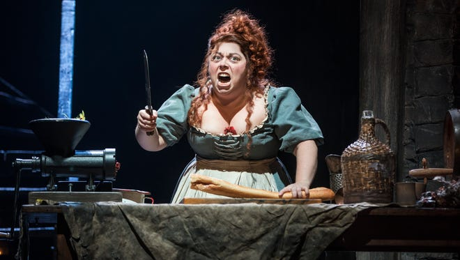 """Allison Guinn digs into her role as Madame Thenardier in a production of """"Les Miserable"""" coming to the Kentucky Center for the Arts."""