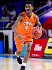 Powell's Desmond Billingsley was among the team's top scorers with 11 points in the state tournament quarterfinals game against Whitehaven in Murfreesboro on March 14.