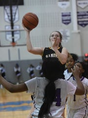 Hanover Park junior forward Martina Wulf drives to
