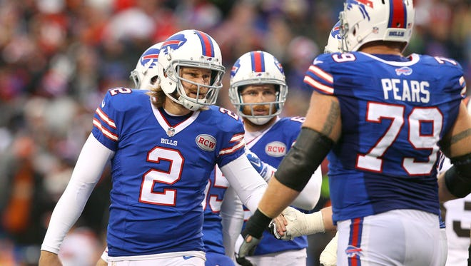 Bills kicker Dan Carpenter (2) had four field goals in a 26-10 win over Cleveland last year.