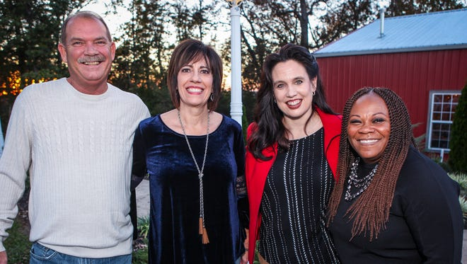 Rick and Pearl Eakins with Beth Reynolds and Veronica Terrell at the 2017 Firefly Dinner benefiting Doors of Hope. The event was held Thursday, Oct. 19 at Stone Gate Farm in Murfreesboro.