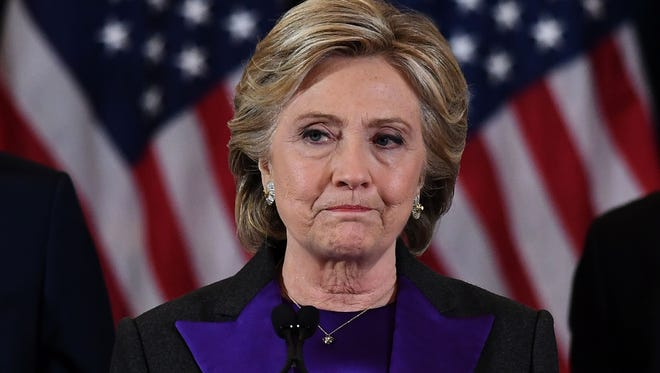 Hillary Clinton makes a concession speech after being defeated by Republican president-elect Donald Trump.
