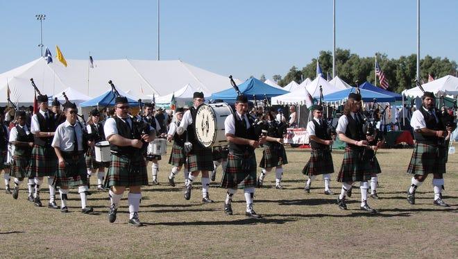 The scene at the Tucson Celtic Festival.