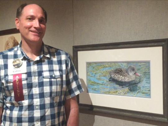 """Mark Collins's """"Tranquil Convergence"""" is his third appearance in """"Birds in Art."""""""