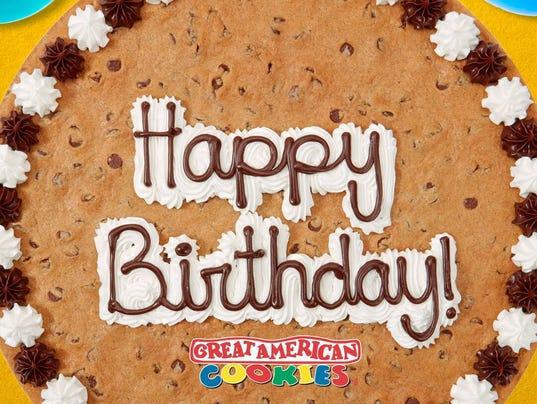 Great American Cookies  Cookie Cake