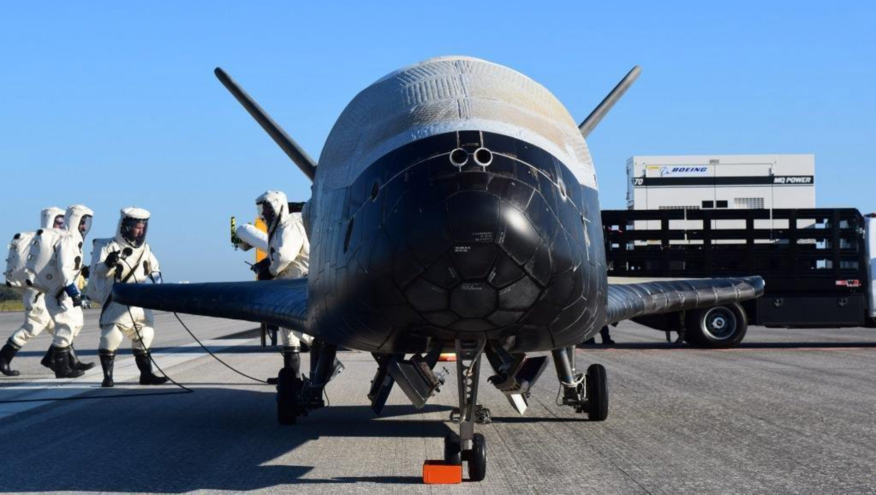 The experimental X-37B, unmanned military space plane