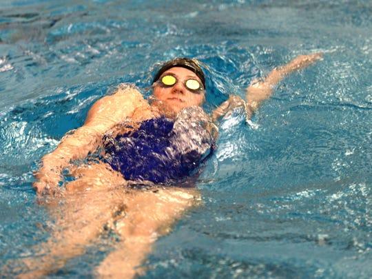 Caroline Szyklowski from Academy of the Sacred Heart is going to Kentucky on a swim scholarship.