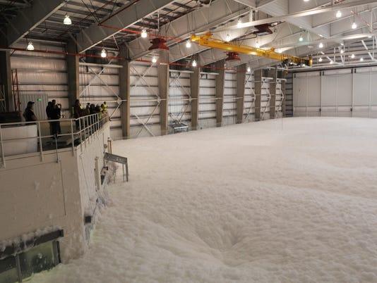 Fire suppression foam test