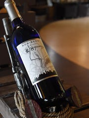 A bottle of wine, called 87 North, from Robibero Winery