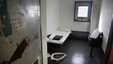 A solitary confinement cell at New York's Rikers Island jail.
