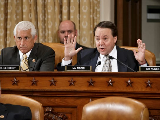 Rep. Pat Tiberi, R-Ohio, right, at a House committee