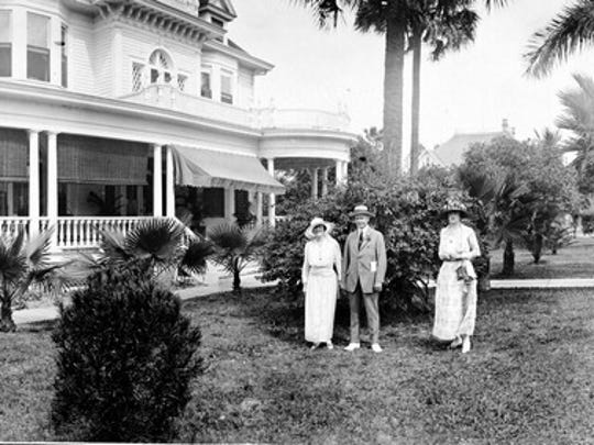 The Burroughs Home pictured in 1919. It was completed in 1901.