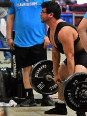 Early's Miguel Elizondo attempts a deadlift at the