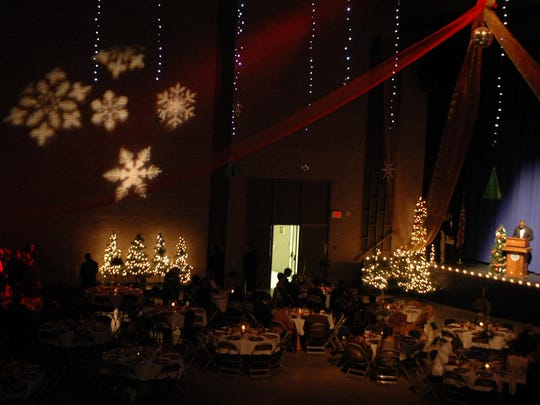 Guests mingle during 'Holiday Splendor 2008' Scholarship Benefit Gala presented by the 100 Black Men of West Tennessee at the Carl Perkins Civic Center. The 2016 Gala begins 7 p.m. Friday at the Civic Center.