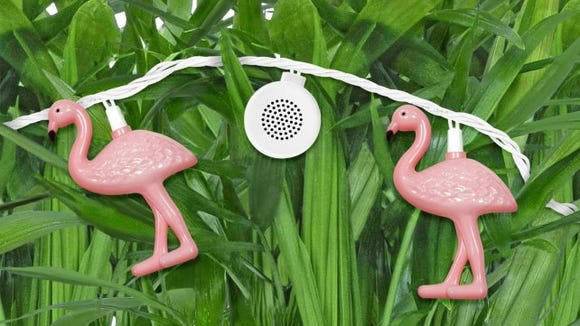 These cute flamingo lights double as Bluetooth speakers.