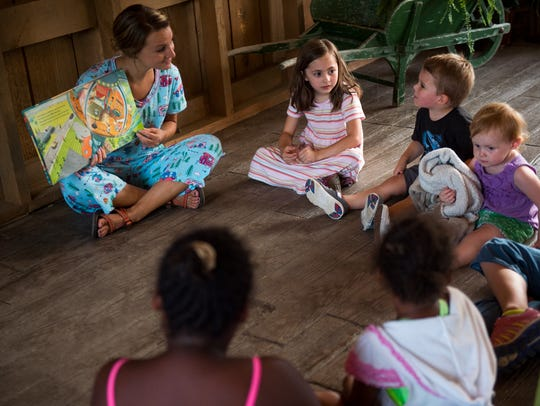 Children can sit in on bedtime stories at Dollywood's