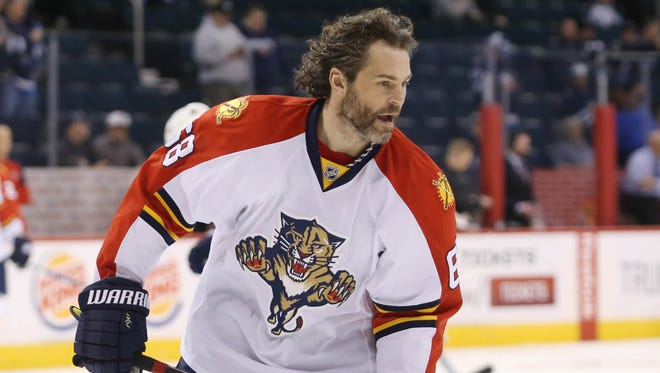 Florida Panthers right wing Jaromir Jagr has 25 goals and 58 points this season.
