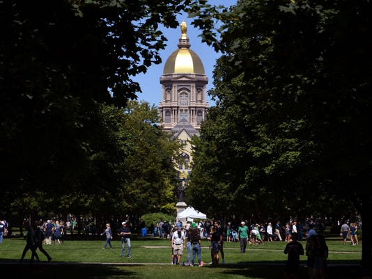 USP NCAA FOOTBALL: TEMPLE AT NOTRE DAME S FBC USA IN