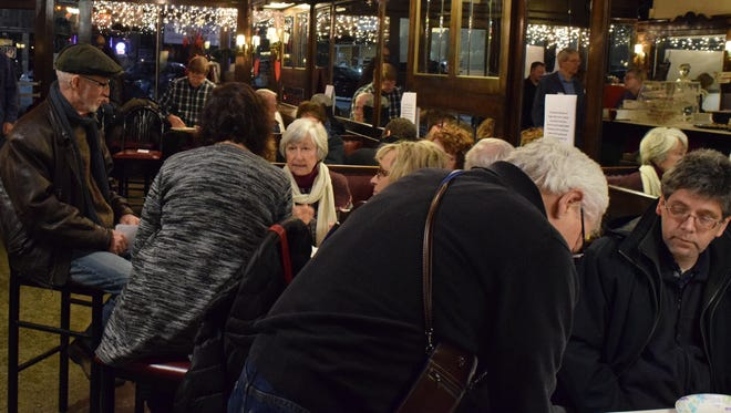 Community members discuss the future of the Sparta restaurant during the Save the Sparta meeting held Feb. 10.
