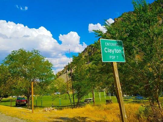 Clayton, Idaho: Population?  Seven
