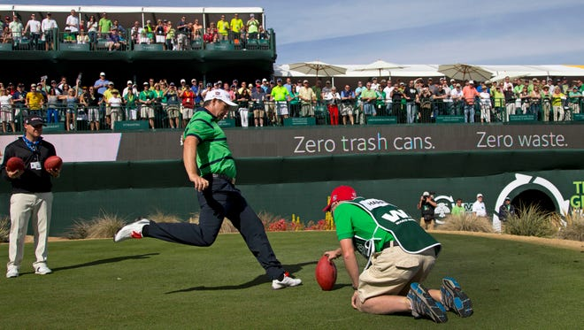 Padraig Harrington kicking a football into the stands is no longer permitted.