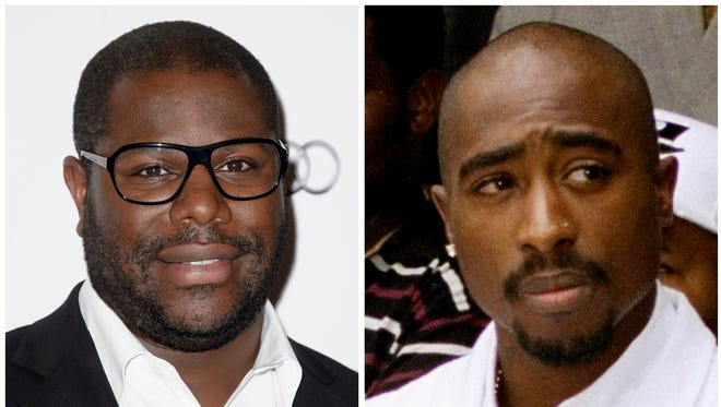Director Steve McQueen, left, will helm a documentary about the life of rapper Tupac Shakur, right.