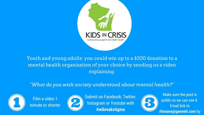 USA TODAY NETWORK-Wisconsin is inviting youth and young adults to submit videos about mental health.