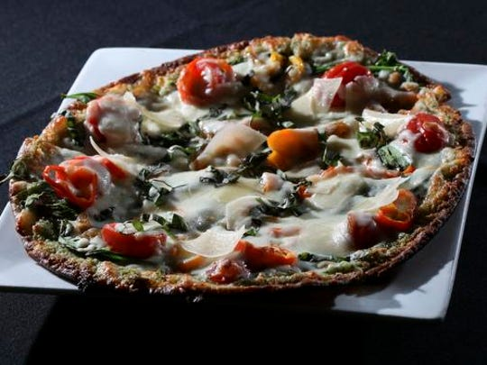 The Artisan Pesto Pizza served at the Brix Wine Bar.