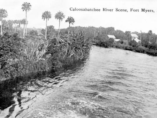 A view of the Caloosahatchee River early in the 20th century.