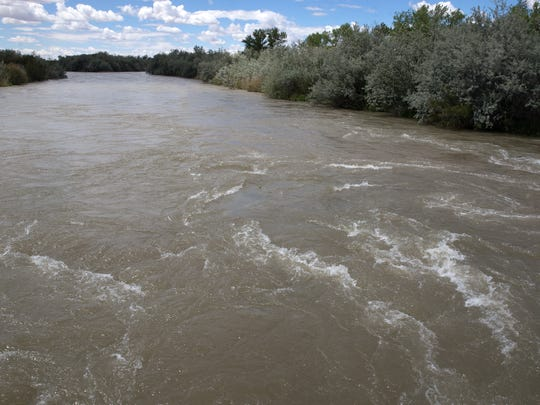 A federal official says the San Juan River channel is being cleared out this spring by a flow of 5,000 cubic feet per second.