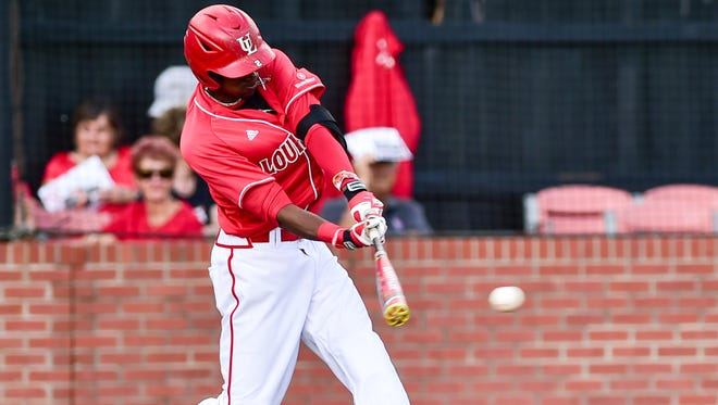 UL outfielder Brian Mills works at the plate as the Cajuns beat Southeastern Louisiana on April 14 at The Tigue.