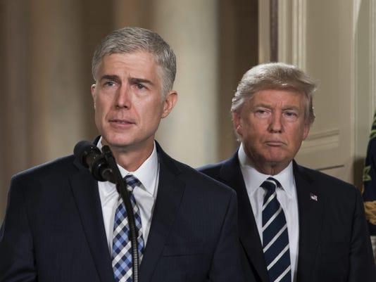 US President Donald J. Trump announces Neil Gorsuch for the Supreme Court