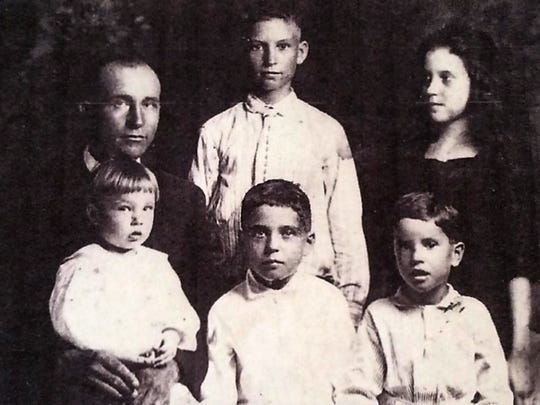 The Bruner family in 1921. Front left was James H.,