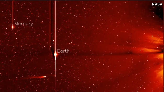 NASA captured new images of Comet ISON hurling toward the sun over five days (Nov. 20-25).
