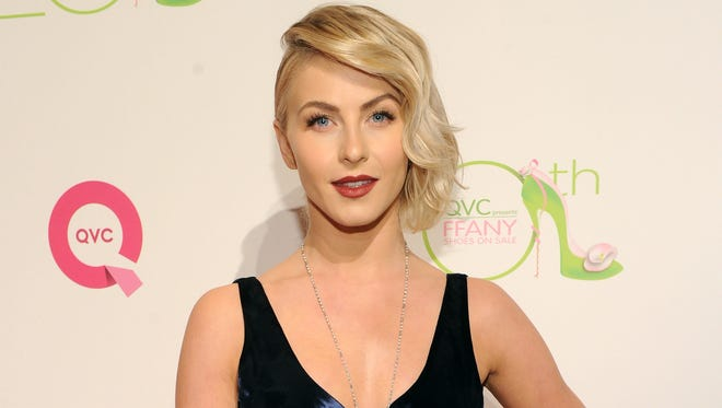 Julianne Hough, shown,  at an event on Oct. 1, had a Halloween misstep.