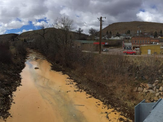 Belt Creek flows through the community of Belt, population 600. Acid mine drainage and heavy metals the flow from an abandoned coal mine turn the creek into a rusty color.