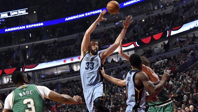 Memphis Grizzlies center Marc Gasol (33) is back in the groove after a prolonged slump.