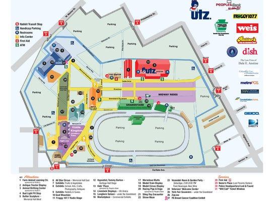 Map of the 2016 York Fair.