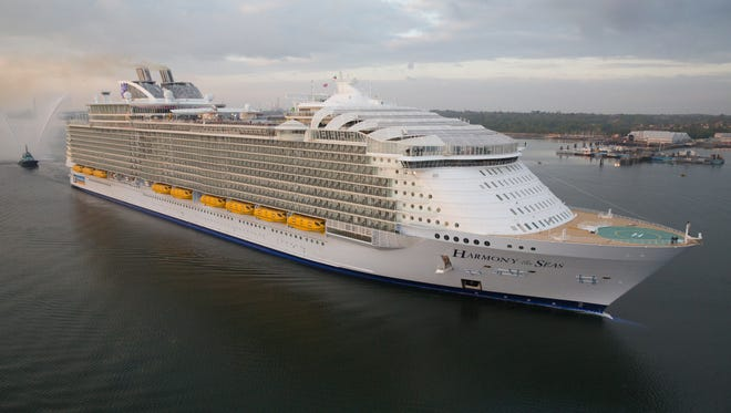 At 126,963 tons, Royal Caribbean's new Harmony of the Seas is the largest cruise ship ever built.
