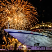 Astronaut christens new Viking Cruises ship, Viking Orion, in elaborate ceremony