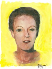 A sketch of a woman, who was found sexually assaulted