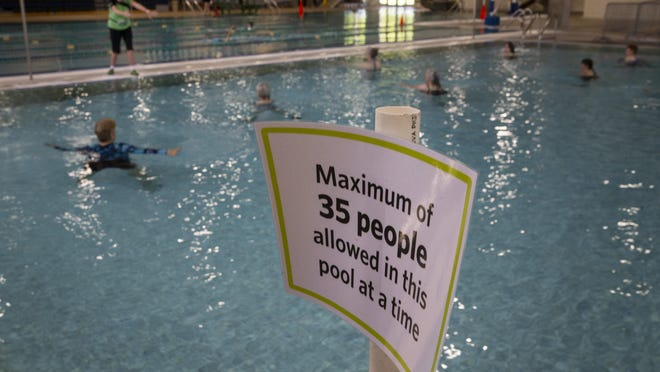 Willamalane Park Swim Center in Springfield is now open for water fitness and lap swim with reservations. [Chris Pietsch/The Register-Guard] - registerguard.com